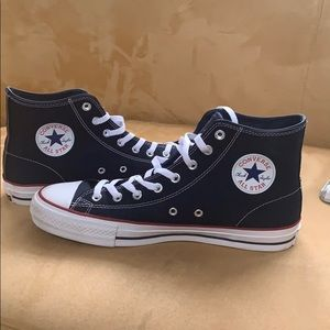 Men's navy high top converse sneakers
